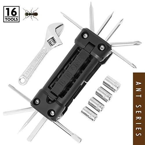 FANTASTICAR 16 in 1 Multi Tool Ratchet Set Mechanic Portable Folding Pocket Knife Pliers Screwdriver Cutter 4 inch Wrench