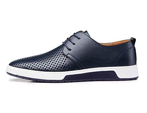 Flat Oxford Mens Blivener Lace Mens Shoes 02blue Blivener Casual Up qtpxwav