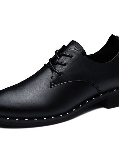black Trabajo Tacón Robusto black eu39 black cn40 uk6 ZQ Comfort us8 Noche Fiesta 5 Zapatos Tacones Oficina Casual Vestido 5 eu39 mujer cn37 5 uk4 5 us8 Negro y Tacones de 2016 eu37 7 Cuero y us6 5 5 XwIFIPA