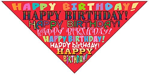 Stonehouse Collection Happy Birthday Dog Bandana - Dog Birthday Scarf Accessory - Great Dog Gift Idea (Medium to Large) ()