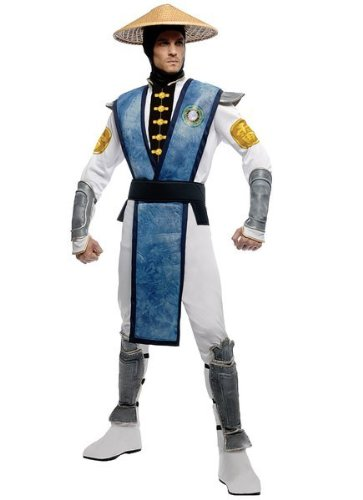 [Mortal Kombat Raiden Adult Costume - Standard] (Mortal Kombat Kitana Halloween Costume)