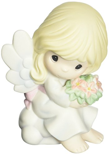 Precious Moments Angels - Precious Moments 152006 Forever In My Heart, Bisque Porcelain Figurine