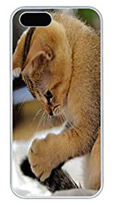 Brian114 6 plus Case, iPhone 6 plus 6 plus Case - Fashion Style Cat Playing Tail White PC Hard Cover Case for iPhone 6 plus 6 plus