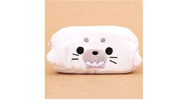 Estuche kawaii peluche lápices bolso foca blanca Japón: Amazon.es: Oficina y papelería