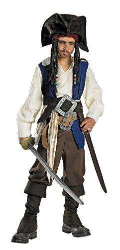 Deluxe Kids Captain Jack Sparrow Costume (Deluxe Captain Jack Sparrow Child Costume - Medium)