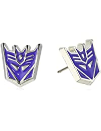 Hasbro Jewelry Unisex Transformers Stainless Steel Post Decepticon Stud Earrings
