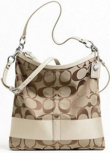 5170106632 Image Unavailable. Image not available for. Color  Coach Signature Stripe  Convertible Shoulder Bag ...