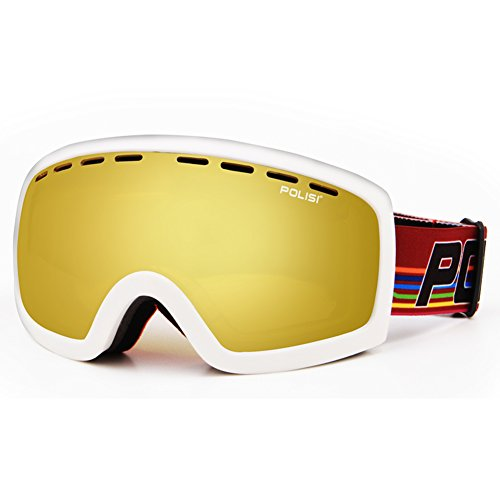 SE7VEN Masques De Ski Anti Brouillard,Double Couche Anti Brouillard Lumière Polarisée Panoramique Masques De Snowboard Goggles N