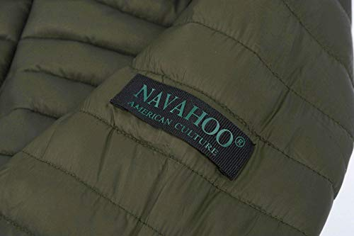 Verde Chaqueta B348 Navahoo Mujer Para Con Acolchada Capucha AHwq40