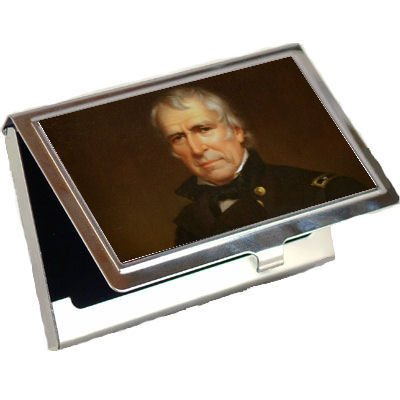 Taylor Business Cards - President Zachary Taylor business card holder