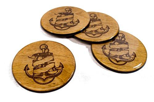 y Wooden Ship Coasters 3.5