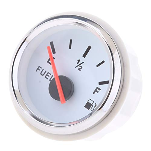 Baosity Pointer Fuel Level Gauge for Universal Boat Car Truck RV Camper - White by Baosity