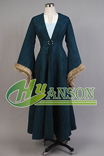 CosplaySky Game of Thrones Costume Catelyn Stark Dress Coat Medium by Cosplaysky (Image #1)