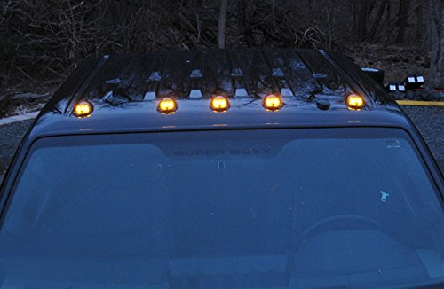 Amazon ijdmtoy 5pcs black smoked cab roof top marker running amazon ijdmtoy 5pcs black smoked cab roof top marker running lamps w 5 smd 5050 amber led lights for truck 4x4 suv automotive sciox Choice Image