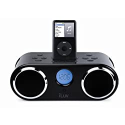 iLuv i166 Audio System with Dual Alarm, LCD, and Dock for iPod (Black)