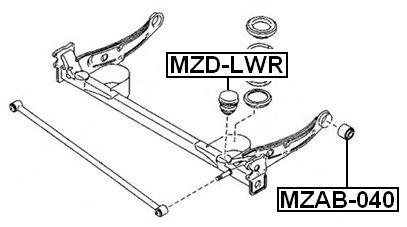 Mazda Rear Bumper Spring Febest Lc70-28-111A Oem