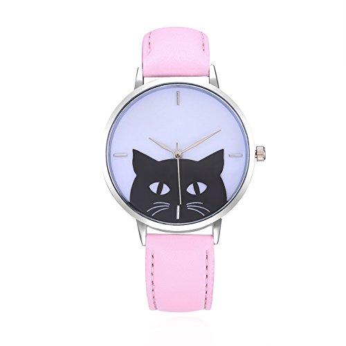 LVPAI Exquisite Fashion Cute Cat Creative Ladies Watches for Women Wrist Watch
