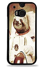 Astronaut Sloth HTC One (M8) Black Hardshell Case
