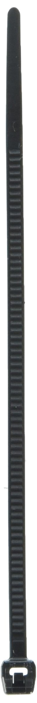 Hellermann Tyton 118-04700 Outside Serrated Cable Tie, 4'' Long, 18lb Tensile Strength, PA66HS, Black  (Pack of 100)