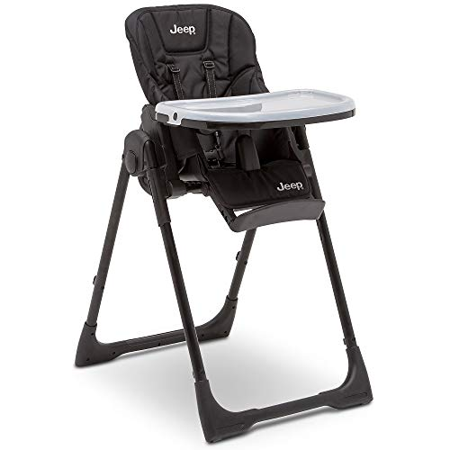 Jeep Classic Convertible High Chair for Babies and Toddlers, Midnight Black