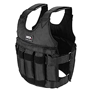Weighted Vest Workout Equipment BLACKOBE 110LB Adjustable Weighted Vest