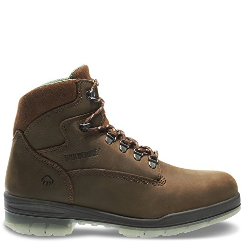 "Wolverine I-90 DuraShocks Waterproof Insulated Steel Toe 6"" Work Boot Men 10 Brown"
