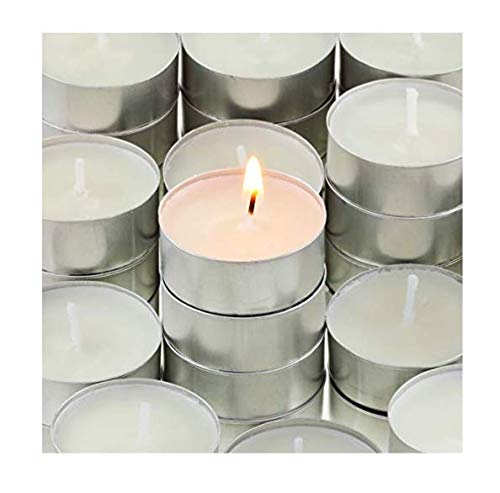 CandleNScent 200 Tea Lights | 5 Hr | Paraffin-Free Natural Tealight Candles ()