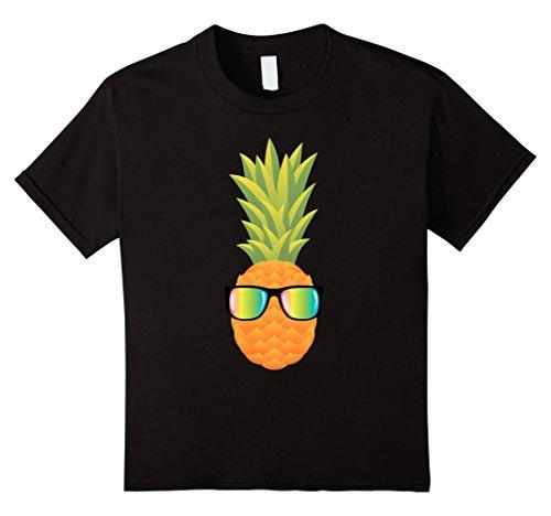 Kids Hawaiian Pineapple with Sunglasses Illustration Gift-T-Shirt 12 - Sunglasses Illustration
