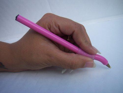 left-handed-pink-twin-pack-swan-neck-pen-black-ink-left-hand-logic