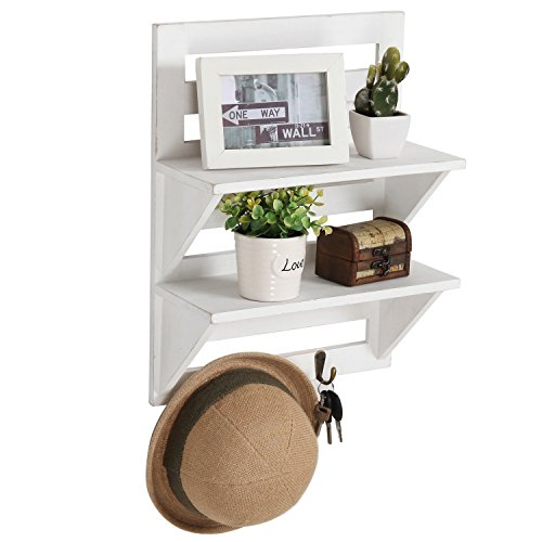 MyGift Mounted Organizer Shelves Distressed