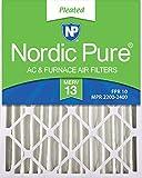Nordic Pure 16x25x4M13-2 16x25x4 MERV 13 Pleated AC Furnace Air Filter, Box of 2, 4-Inch thumbnail