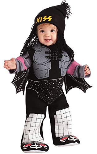 (Kiss The Demon Ez-On Romper Costume, Black,)