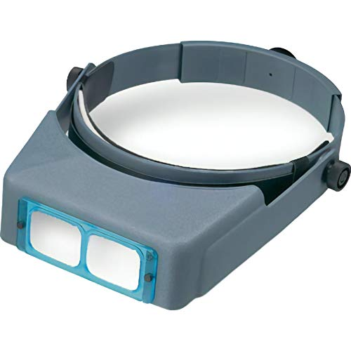 "Donegan DA-2 OptiVISOR Headband Magnifier, 1.5X Magnification Glass Lens Plate, 20"" Focal Length"