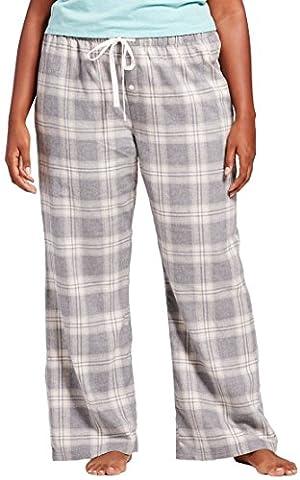 Gilligan & O'Malley Women's Woven Flannel Pants (Medium, Neutral Plaid) - Flannel Pajama Pants Sleepwear