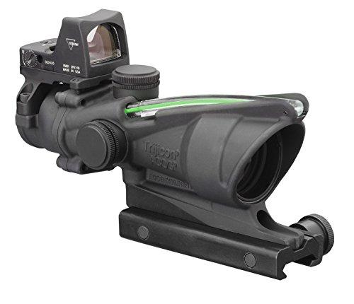 Trijicon TA31RMR-G ACOG 4x32 Scope, Dual Illuminated Green Crosshair .223 Ballistic Reticle, 3.25 MOA RMR Sight