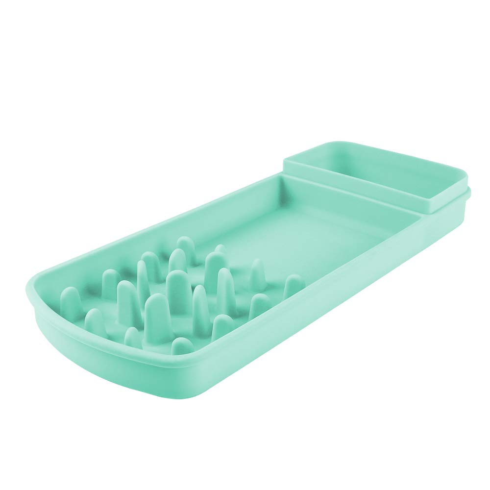 Famobest schleppend Futtermittel Pet Bowl für Dogs Cats, Interactive Bloat Stopp Anti-Gulping Non Toxic Eco-Friendly Healthy Design Hund Bowl Katze Bowl schleppend Feeder Teal