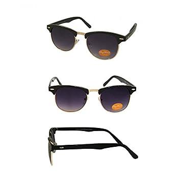Chic-Net Sonnenbrille Retro Vintage 400UV Metallunterseite golden Nerd getönt lila vUikwKR