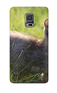 Christmas Day's Gift- New Arrival Cover Case With Nice Design For Galaxy S5- Kitten In Grass
