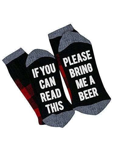 Womens Christmas Fun Socks If You Can Read This Bring Me A Beer Socks