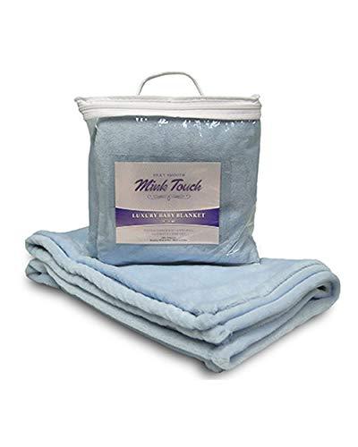 "Alpine Fleece 8722 100% Polyester Faux Mink Touch Soft Luxury Baby Blanket, 30"" x 40"" (Baby Blue)"