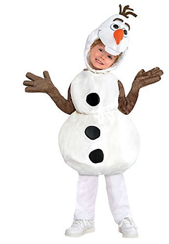 Disney Frozen Olaf Costume Snowman Disney Size 4 5 6 4-6T by Costume -