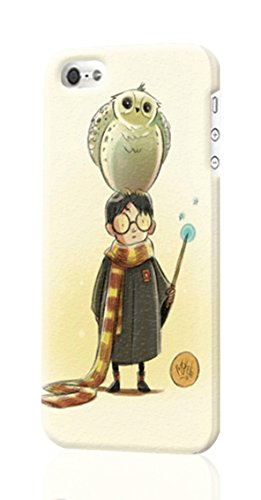 SUUER Cute Hedwig with Harry Potter iPhone 5C 3D Case , Designer Personalized Custom Plastic Hard CASE for iPhone 5C Durable New Style ROUGH Skin 3D Case Cover