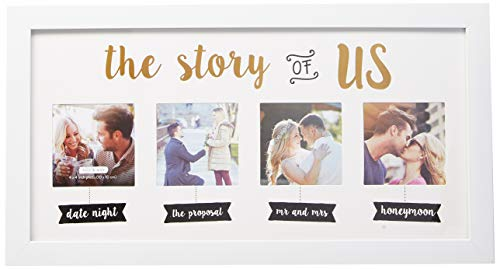 Kate & Milo 'The Story of Us' Collage Photo Frame, White, Cherish Your Love Story, The Perfect Bridal Shower Gift (Shower Top Gifts Bridal)