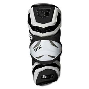 STX Lacrosse Cell 2 Arm Guards (Black, Large)