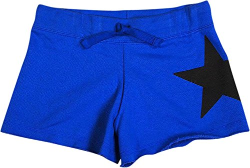Girl Discounted Flower - Flowers by Zoe - Big Girls' French Terry Star Short, Royal 35694-14