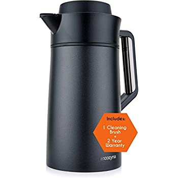 Thermal Coffee Carafe 51oz by Cozyna, Milk and Creamer Carafe, Stainless Steel, 1.5L