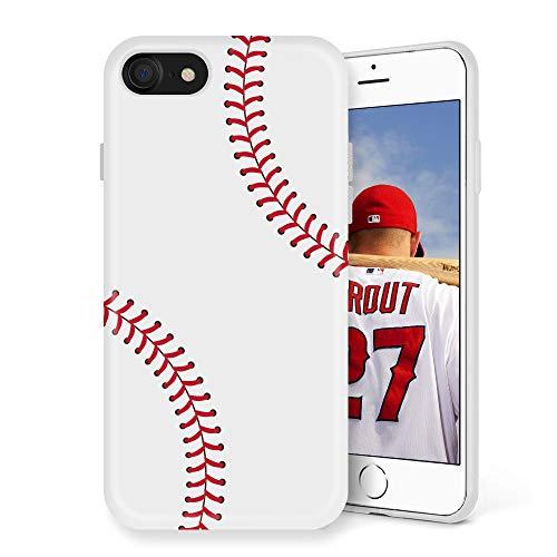 Litech™ Case for Apple iPhone 7 / iPhone 8 [Flexfit] Premium Scratch-Resistant Cute Creative Artistic Design (Baseball) ()