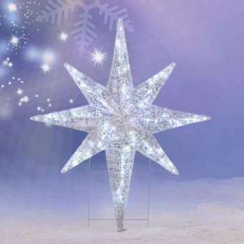 Amazon.com : CHRISTMAS 4' LED LIGHTED STAR OF BETHLEHEM OUTDOOR ...