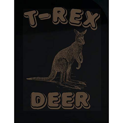Funny Kangaroo Theme TRex Deer Australian Wildlife Gifts Design - Transparent Sticker]()