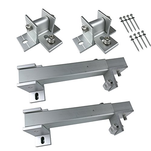 Smarkey Adjustable Solar Panel Roof Tilt Mounting Brackets for Roof, RV, Boat and Any Flat Surface,Support 100W/150W/200W/300W Solar - Panels Solar Tilt